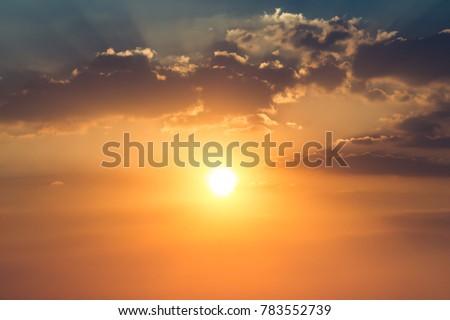 sky cloud twilight with sunset, nature season  #783552739