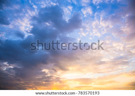 Blue sky and clouds with space for add text above. picture background website or art work design. freedom with sky.