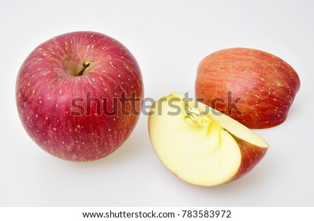 Red ripe apple on white background #783583972
