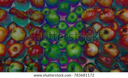 Psychedelic Apple display #783681172