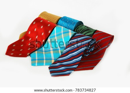 Neck tie  isolated on white background. #783734827