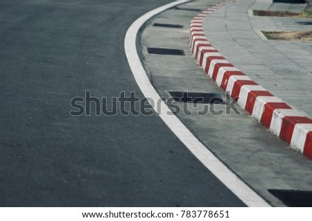 Traffic sign on the road #783778651