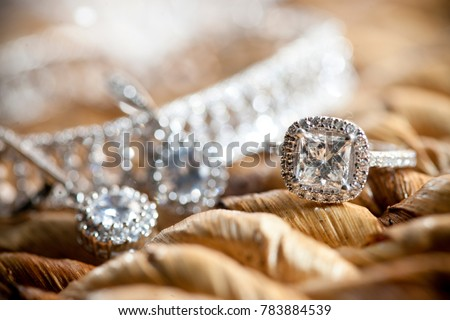 Diamond Wedding Rings Royalty-Free Stock Photo #783884539