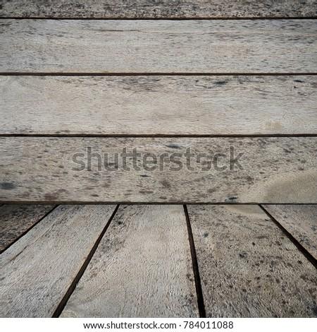 old wooden floor over plank wooden background #784011088