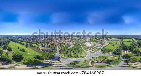 Aerial view of the historic city of Steinfurt, Germany #784168987