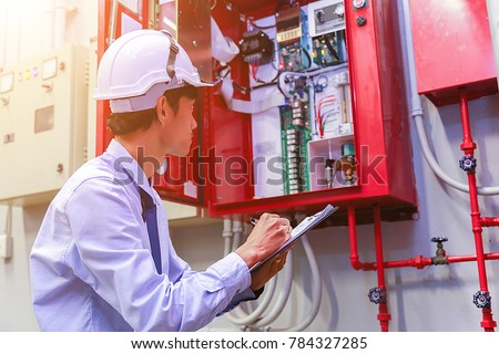 Engineer inspection Industrial fire control system #784327285