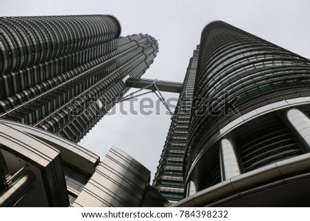 The petronas twin towers in Kuala Lumpur Malaysia. The picture has been taken on 20th July 2015. #784398232