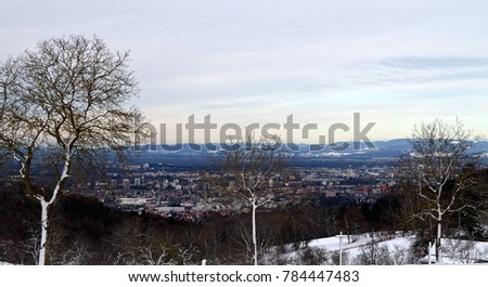 View from the Schoenberg towards Freiburgs West #784447483