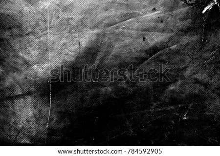 Creased plastic polyethylene film texture. Image includes a effect the black and white tones. #784592905