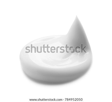 Sample of hand cream on white background #784952050