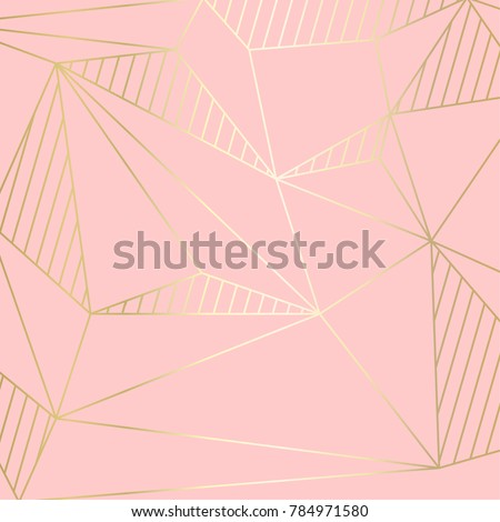 (illustration) gold line background, abstract artistic of geometric background Royalty-Free Stock Photo #784971580