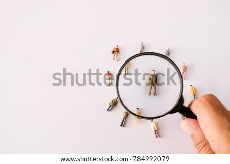 Human Resource Management and Recruitment and Hiring concept. Find leader. Find team. Royalty-Free Stock Photo #784992079