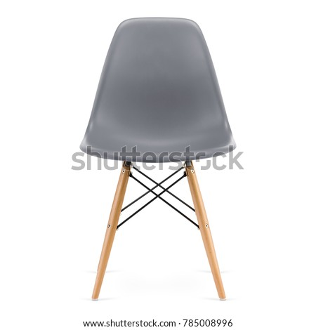 Modern design, plastic kitchen chair isolated on white background #785008996