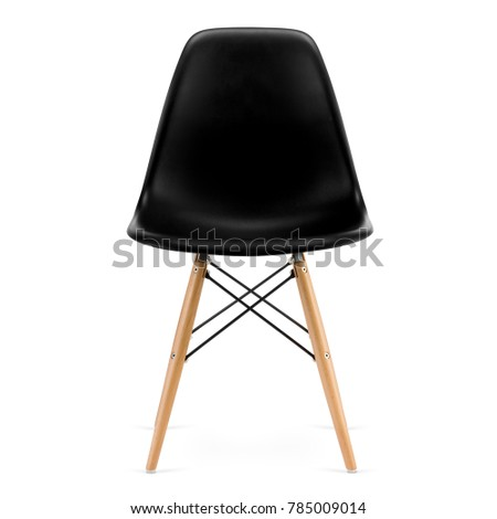 Modern design, plastic kitchen chair isolated on white background #785009014