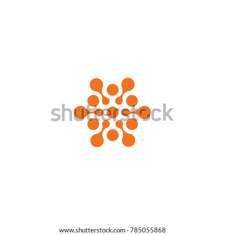 Abstract sun, related circles orange color logo. New technology vector symbol. #785055868