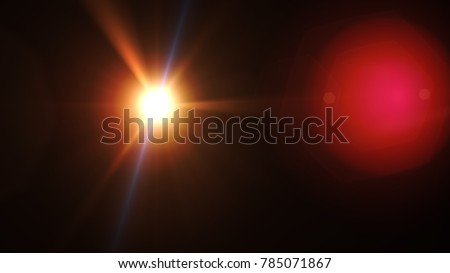 Lens flare , Abstract overlays background. #785071867