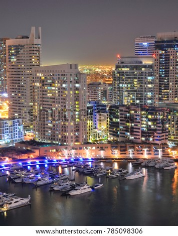 Dubai Marina by Night #785098306