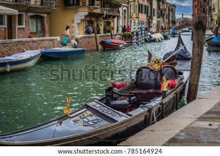 Gondola in Venice, Italy #785164924