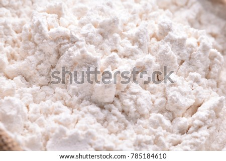 powder Bread dough closeup #785184610