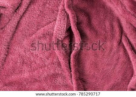 Soft pink fabric shaped as female genital organs, vagina #785290717