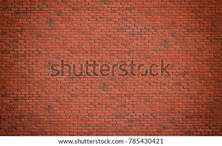 Red brown block brick wall Beautifully arranged texture background. #785430421