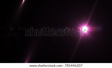 Digital lens Flare , lens flare, light leaks , Abstract overlays background. #785446207