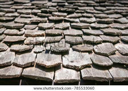 Home roof made of wood background #785533060