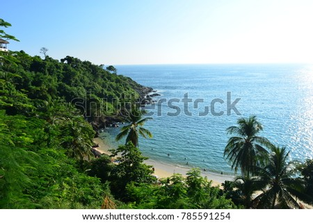Beautiful beach of Puerto Escondido, in the pacific coast of Mexico #785591254