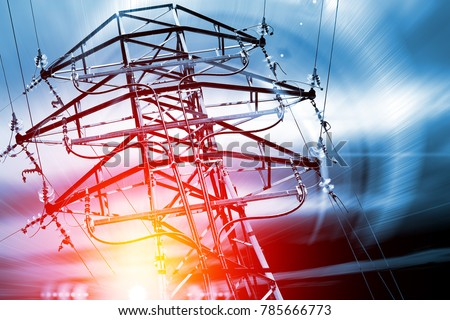 Pylon. Concept of electricity and energy. #785666773