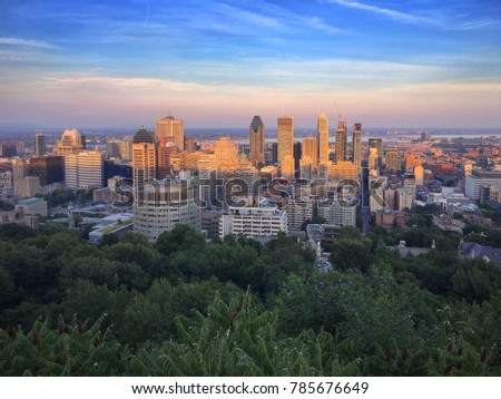 Montreal Skyline Sunset