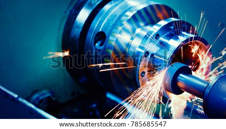 machine tool in metal factory with drilling cnc machines #785685547