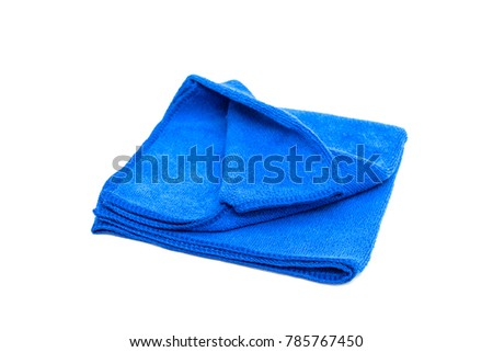 blue microfiber fabric isolated on white background #785767450