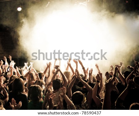 Party people at a concert #78590437