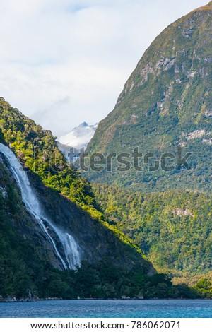 Beautiful scenery of Milford Sound #786062071
