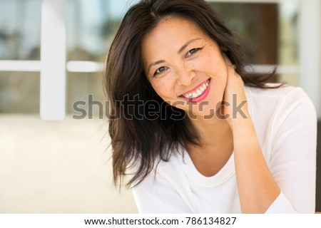 Middle age Asian woman. #786134827
