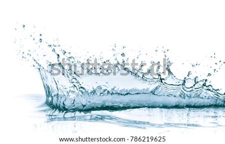 water splash isolated on white background #786219625