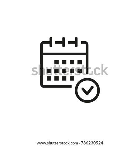 Planning calendar icon Royalty-Free Stock Photo #786230524