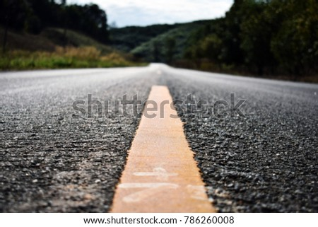 Rural Country road on the wild #786260008