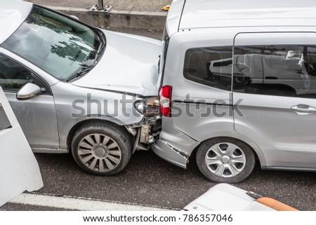 Car crash on highway #786357046