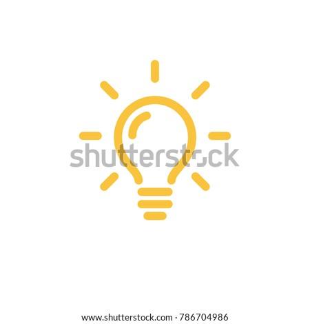 Light lamp sign icon. Idea symbol Royalty-Free Stock Photo #786704986