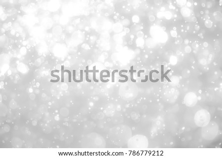 gray bokeh White and Silver lights on bokeh abstract background. #786779212