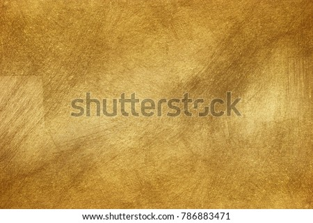 Shiny yellow leaf gold foil texture background #786883471