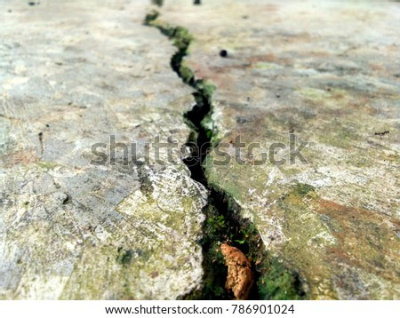 Earth quake on building Royalty-Free Stock Photo #786901024