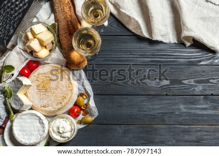 Mix cheese on the table #787097143