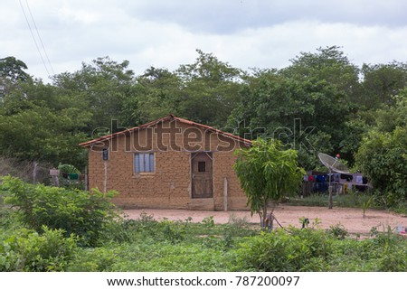 Houses of Rural Area in Piaui, Brazil #787200097