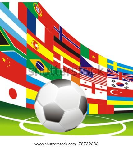 soccer football flags vector #78739636