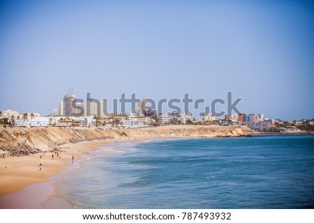 Shoreline of Dakar, Senegal. #787493932