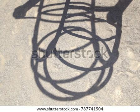 Shadow of playground equipment #787741504