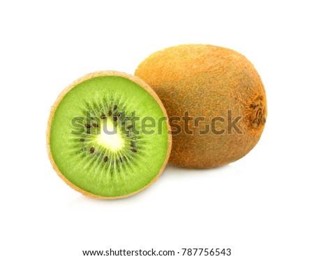 Kiwi fruit isolated on white #787756543