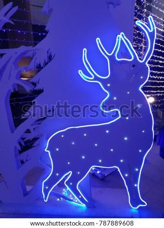 Color light of Reindeer.